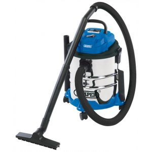 Draper 20l 1250w 230v Wet And Dry Vacuum Cleaner With Stainless Steel Tank-0