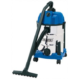 Draper 30l Wet And Dry Vacuum Cleaner With Stainless Steel Tank (1600w)-0