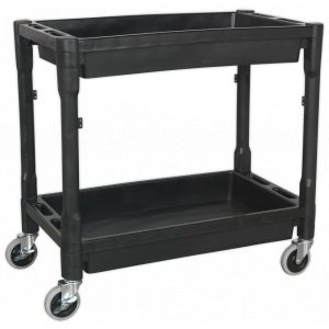 Sealey CX204 Trolley 2-Level Composite Heavy-Duty-0