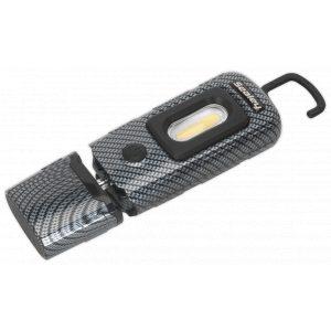 Sealey LED3601CF Rechargeable 360° Inspection Lamp 2W COB + 1W LED Carbon Fibre Effect-0