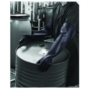 Polyco Chemprotec SC109 Heavyweight 66cm Black Latex Gauntlets (ME111)-0