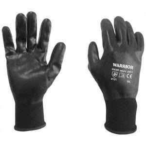 Warrior Fully Coated Black Nitrile Gloves-0