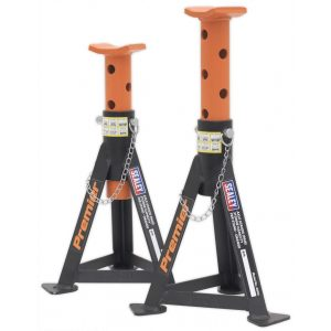 Sealey AS3O Axle Stands (Pair) 3tonne Capacity per Stand Orange-0