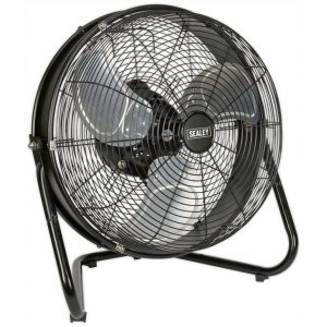 """Sealey HVF18IS Industrial High Velocity Floor Fan with Internal Oscillation 18""""-0"""