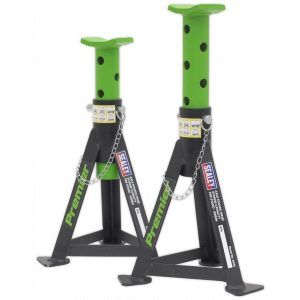 Sealey AS3G Axle Stands (Pair) 3tonne Capacity per Stand Green-0