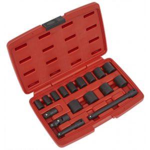 """Sealey AK68217 Impact Socket Set 17pc 3/8""""Sq Drive Metric-0"""