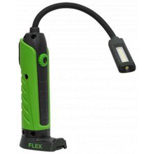 Sealey LEDFLEXG Flexi Rechargeable Green Inspection Lamp Li-ion 1 COB + 1 LED-0