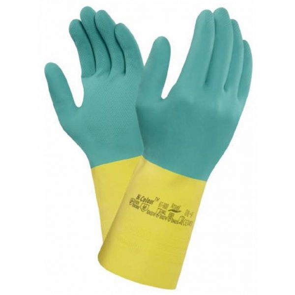 Ansell AlphaTec 87-900 Heavyweight Latex   Neoprene Chemical Resistant Gloves-0