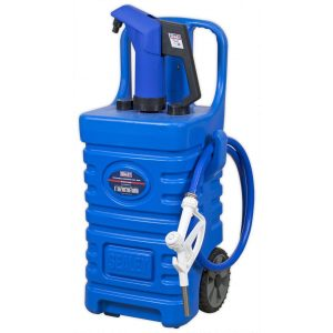 Sealey DT55BCOMBO1 Mobile Dispensing Tank 55L with AdBlue Pump - Blue-0