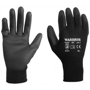 Warrior Black PU Coated Work Gloves-0