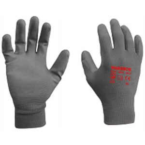 Warrior Grey PU Coated Work Gloves-0