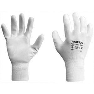 Warrior White PU Coated Work Gloves-0