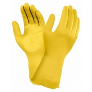 Ansell Marigold 87-086 (G12Y) Yellow Latex Rubber Gloves-0