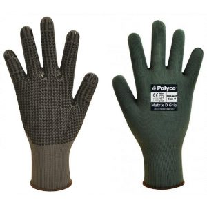 Polyco Matrix D Grip Grey Work Gloves-0