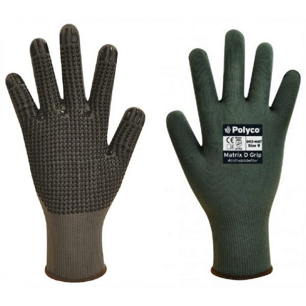 Polyco Matrix D Grip Grey Work Gloves-0