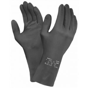 Ansell AlphaTec 87-950 Black Latex Rubber Chemical Resistant Gloves-0