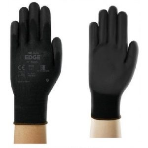 Ansell EDGE 48-126 Black PU Coated Gloves-0