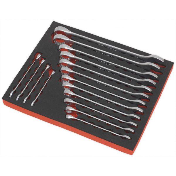 Sealey AK63255 Combination Spanner Set 16pc Metric-69154