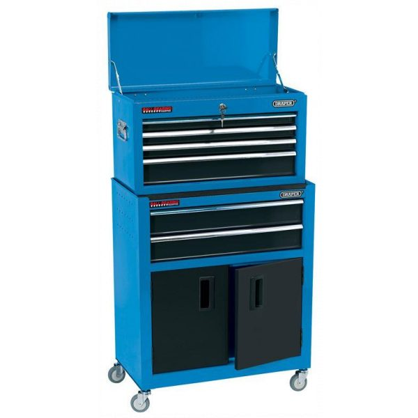 """Draper 19563 24"""" Combined Roller Cabinet and Tool Chest 6 Drawer-0"""