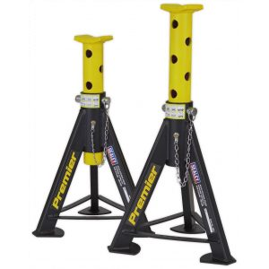 Sealey AS6Y Axle Stands (Pair) 6tonne Capacity per Stand - Yellow-0