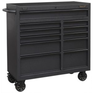 Sealey AP4111BE Rollcab 11 Drawer 1040mm with Soft Close Drawers-0
