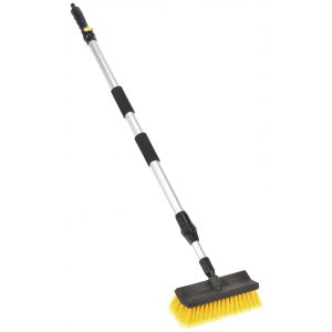 Sealey CC50 Large Angled Flo-Thru Brush with 1.7mtr Telescopic Handle-0