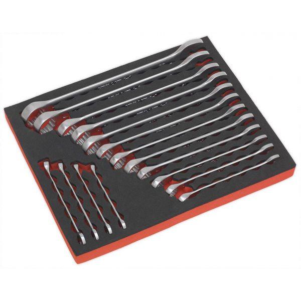 Sealey AK63255 Combination Spanner Set 16pc Metric-0