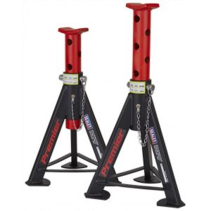 Sealey AS6R Axle Stands (Pair) 6tonne Capacity per Stand - Red-0