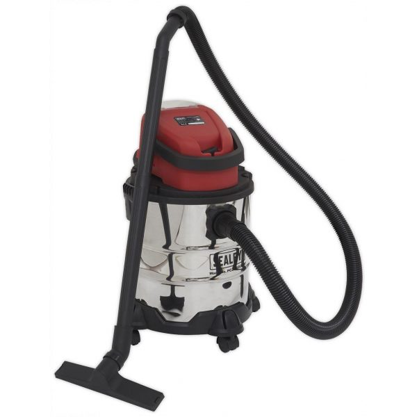 Sealey PC20SD20V Vacuum Cleaner Cordless Wet & Dry 20ltr 20V - Body Only-0