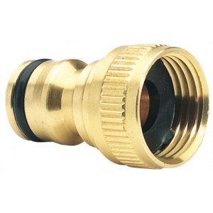 """Draper 36197 Brass Garden Hose Tap Connector 1/2""""-0"""