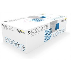 Box 100 Unigloves Kooltouch Blue Nitrile Disposable Gloves-0
