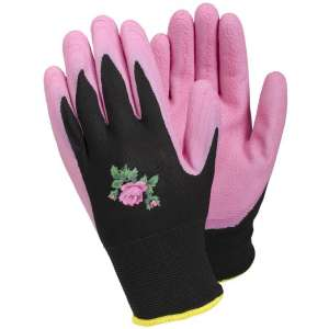 Tegera Pink Latex Palm Laides Gardening Work Gloves-0