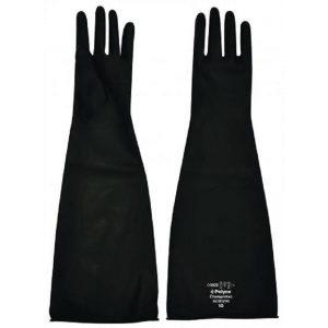 PH Shield Black Latex Rubber Gloves Gauntlets 16 inch 40 cm Long-0
