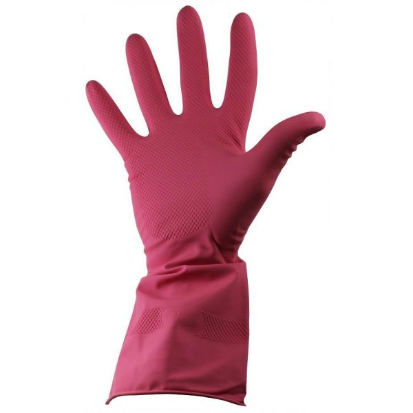 Ph Shield 2 Pink Latex Rubber Household Gloves-0