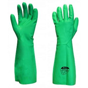 Polyco N Dura 45 Green Nitrile Extra Long Chemical Resistant Gloves-0