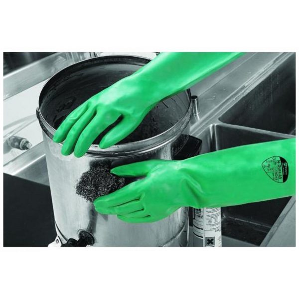 Polyco N Dura 45 Green Nitrile Extra Long Chemical Resistant Gloves-69918