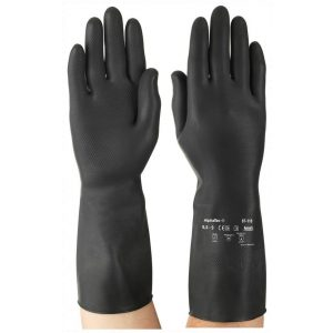 Ansell Marigold AlphaTec 87-118 (G17K) Black Latex Gloves-0