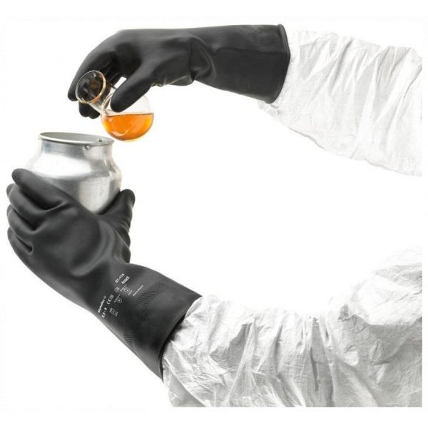 Ansell Marigold AlphaTec 87-118 (G17K) Black Latex Gloves-70157