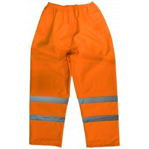 Sealey 807MO Hi-Vis Orange Waterproof Trousers - Medium-0