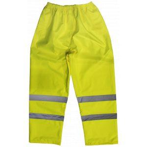 Sealey 807M Hi-Vis Yellow Waterproof Trousers - Medium-0