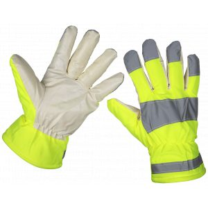 Sealey 9135 Yellow Hi-Vis Warm Hand Gloves - One-Size Pair-0