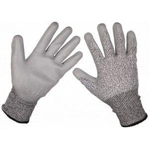 Sealey 9139XL Anti-Cut PU Gloves (Cut Level C - X-Large) - Pair-0