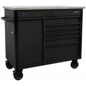 Sealey AP4206BE Mobile Tool Cabinet 1120mm with Power Tool Charging Drawer-0