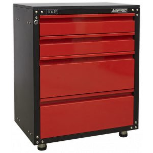 Sealey APMS84 Modular 4 Drawer Cabinet with Worktop 665mm-0