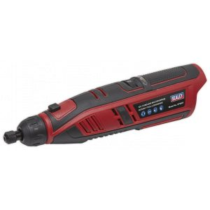 Sealey CP1207 Cordless Multipurpose Rotary Tool & Engraver Kit 49pc 12V Lithium-ion - Body Only-0