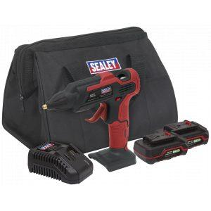 Sealey CP20VGGKIT Cordless Glue Gun Kit 20V - 2 Batteries-0