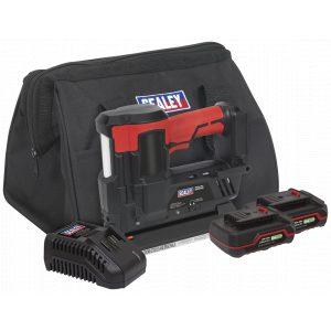 Sealey CP20VNGKIT Cordless Staple/Nail Gun Kit 18G 20V - 2 Batteries-0