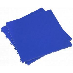 Sealey FT3BL Polypropylene Floor Tile 400 x 400mm - Blue Treadplate - Pack of 9-0