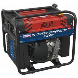 Sealey GI3500 Inverter Generator 3500W 230V 4-Stroke Engine-0