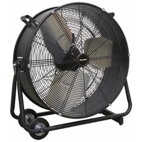"Sealey HVD24P Industrial High Velocity Drum Fan 24"" 230V - Premier-0"